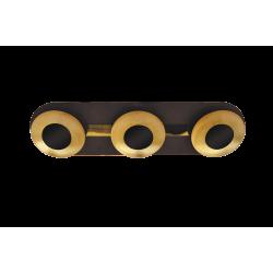 Plafoniera Brigitte structura din metal abajur din metal auriu 2553 Rabalux