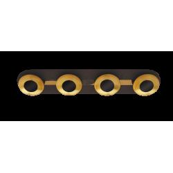 Plafoniera Brigitte structura din metal abajur din metal auriu 2554 Rabalux