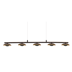 Suspensie Brigitte structura din metal abajur din metal auriu 2555 Rabalux