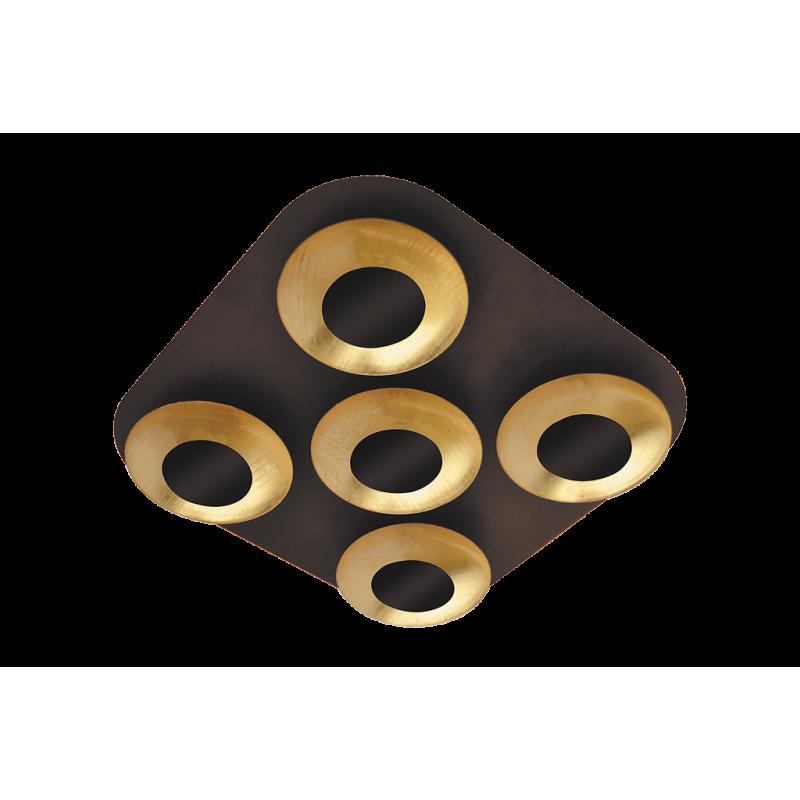 Plafoniera Brigitte structura din metal abajur din metal auriu 2557 Rabalux