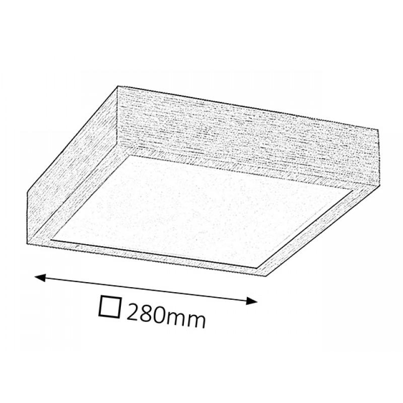 Plafoniera Conor structura din metal si abajur din plastic 5884 Rabalux