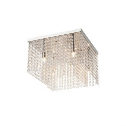 Plafoniera Evita structura din metal cromat IEV CL4 10 60 Incanti