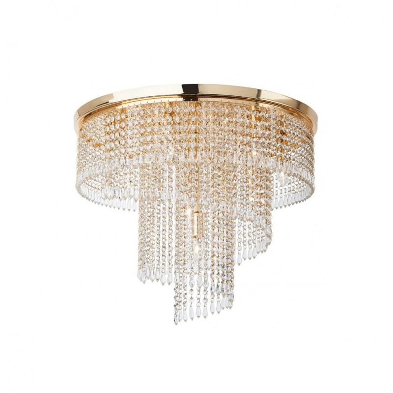 Plafoniera Cocostructura din metal aurit si cristale ICC CL9 11 60 Incanti