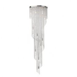Suspensie Coco structura din metal cromat si cristale ICC P15 10 60 Incant