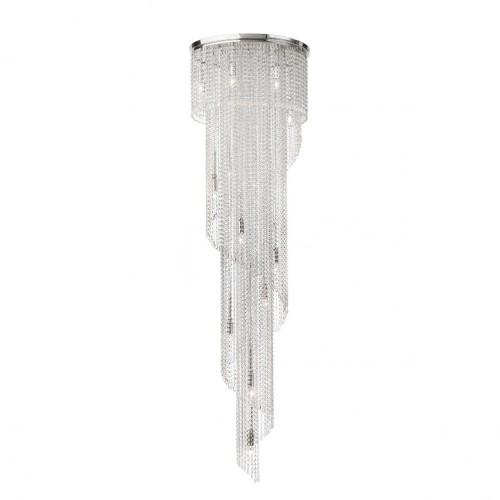 Suspensie Coco structura din metal cromat si ctristale ICC P15 10 60 Incanti