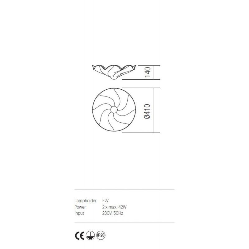 Plafoniera Dalila structura din metal detalii din fier forjat IDL CL2 05 Incanti