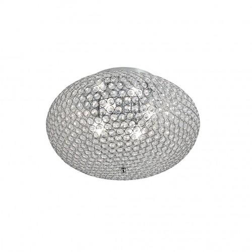Plafoniera Lilas structura din metal cromat si cristale ILL CL4 10 60 Incanti