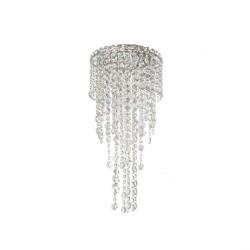 Plafoniera Trevi structura din metal cromat si cristale ITV CL3 10 60 Incanti