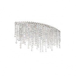 Plafoniera Trevi structura din metal cromat si cristale ITV CLOV4 10 60 Incanti