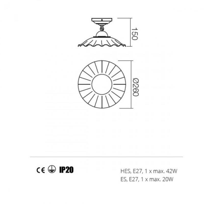 Plafoniera Lea structura din metal 02-802 CC26 Redo