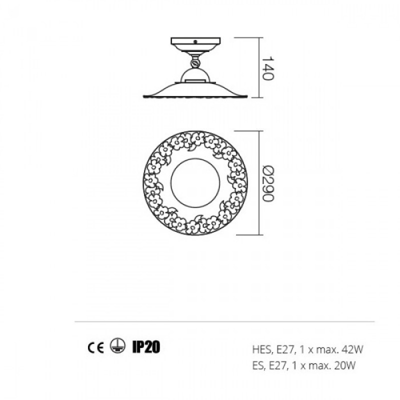 Plafoniera Lea structura din metal 02-802 CF29 Redo
