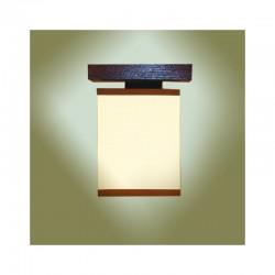 Plafoniera Lido din lemn de fag masiv si abajur crem 3986 Omnia