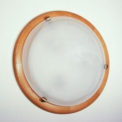 Plafoniera Enya din lemn de fag si sticla de murano 3146 Omnia