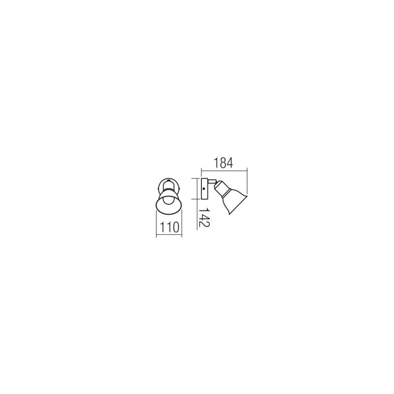 Aplica Olaf structura din metal alb mat si dispersor decorat auriu 04-463 Smarter