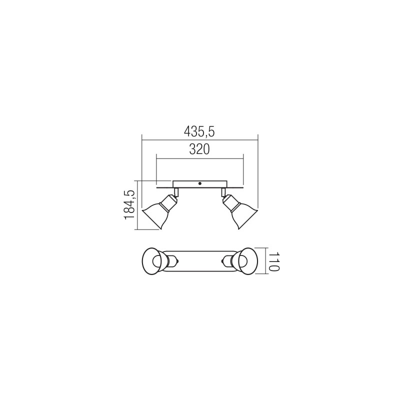 Aplica/Plafoniera Olaf structura din metal alb mat si dispersor decorat auriu 04-464 Smarter