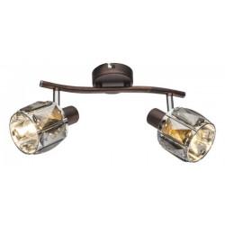 Aplica/Plafoniera Indiana metal bronz abajur sticla dulie E14 54357-2 Globo