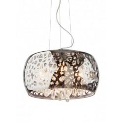 Suspensie Ambiance structura din metal cromat si decoratiuni din sticla 01-1014 Smarter
