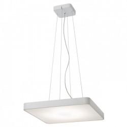 Suspensie Screen pentru interior echipata cu LED-uri SMD structura metal vopsit in alb mat dispersor sticla satinata 01-1124 Redo