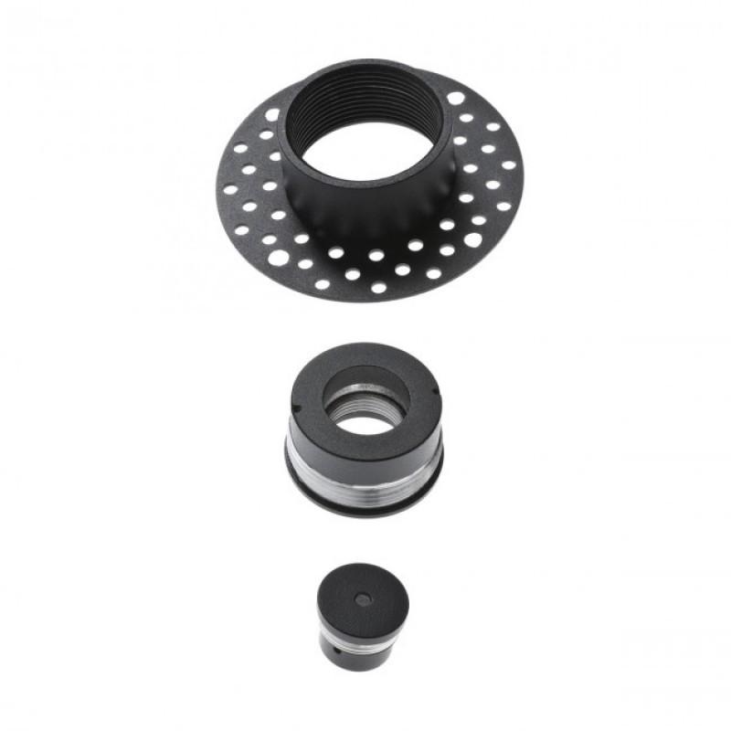 Accesoriu  Kanji din metal vopsit negru mat pentru montajul trimless a suspensiilor 01-1227 Redo
