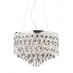 Suspensie Cascade din inox si metal cromat cu decoratiuni din cristal 02-376 Smarter
