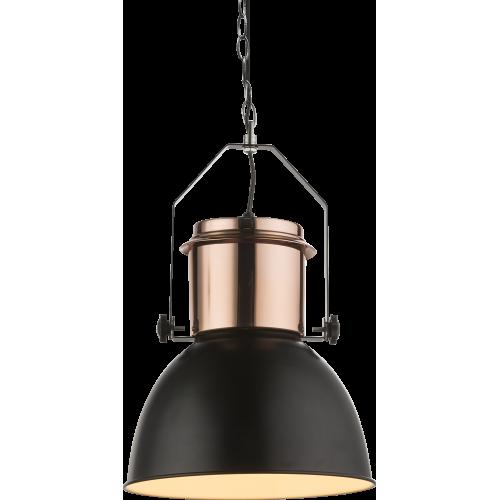 Pendul Kutum metal negru/cupru E27 15282 Globo