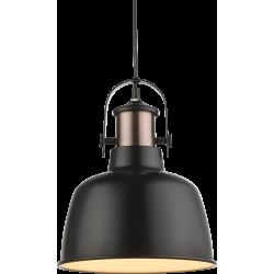 Pendul Kutum metal negru/cupru E27 15284 Globo
