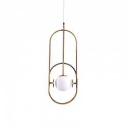 Suspensie Athen structura din metal si abajur din sticla 77-3527 Home Lighting