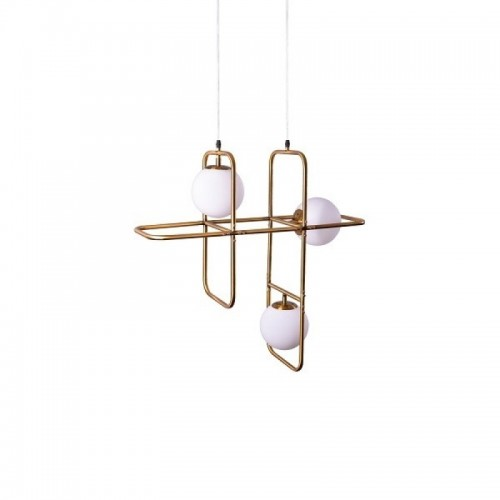 SUSPENSIE ATHEN STRUCTURA DIN METAL SI ABAJUR DIN STICLA 77-3593 HOME LIGHTING
