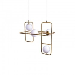 Suspensie Athen structura din metal si abajur din sticla 77-3594 Home Lighting
