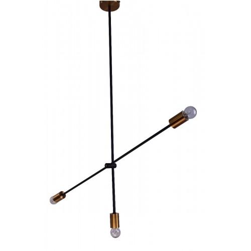 Suspensie Cody structura din metal cu detalii aurii 77-3536 Home Lighting