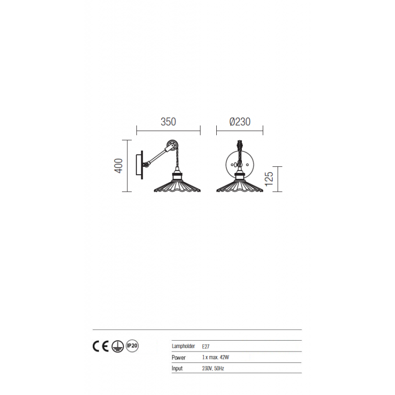 Aplica Kraft structura din metal si abajururi din beton cafeniu 01-446 Redo