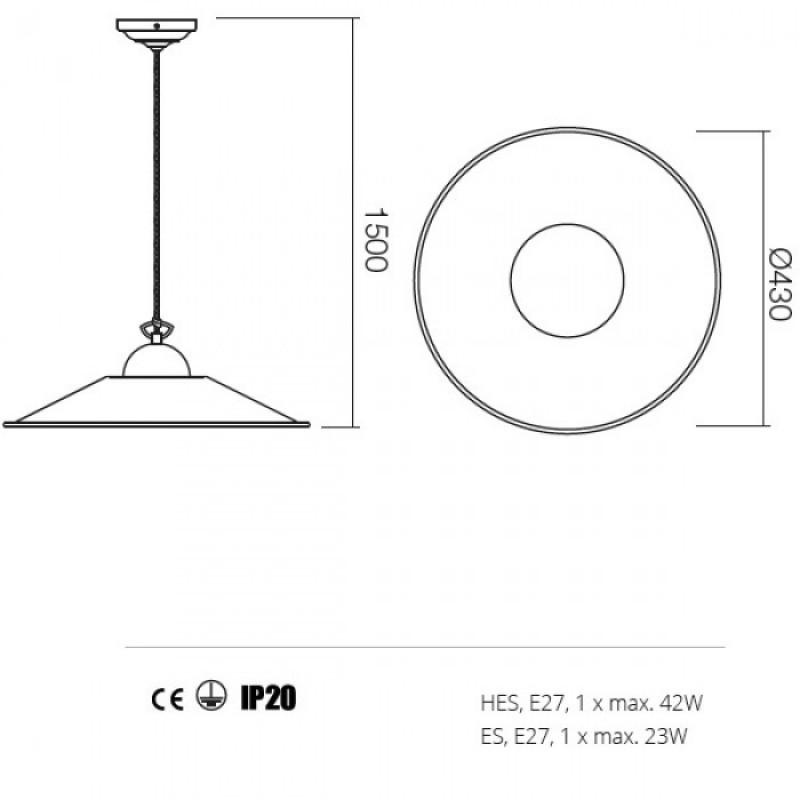Suspensie Lea structura din metal 02-803 M43 Redo