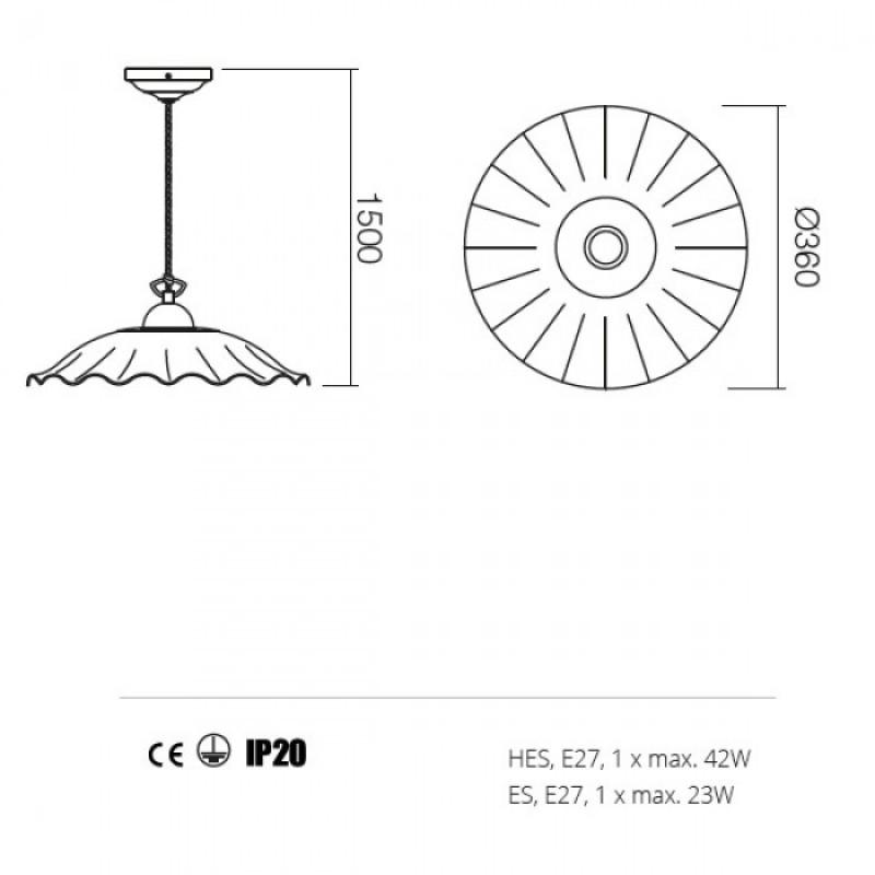 Suspensie Lea structura din metal 02-803 CC36 Redo