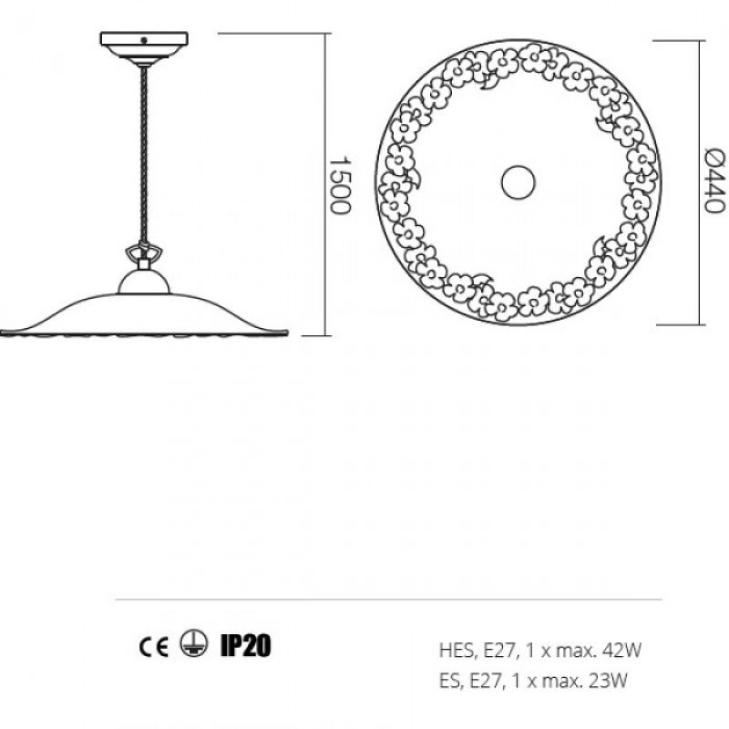 Suspensie Lea structura din metal 02-803 CF40 Redo