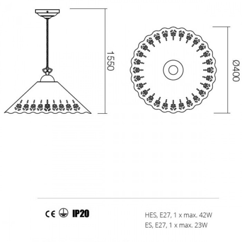 Suspensie Lea structura din metal 02-803 CT 40 Redo