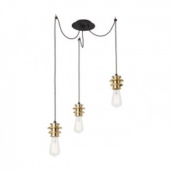 Suspensie Wire structura din metal si elemente decorative aurite 01-462 Redo
