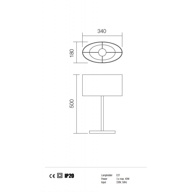 Veioza Enjoy structura din metal cu abajur bej 01-680 BR REDO