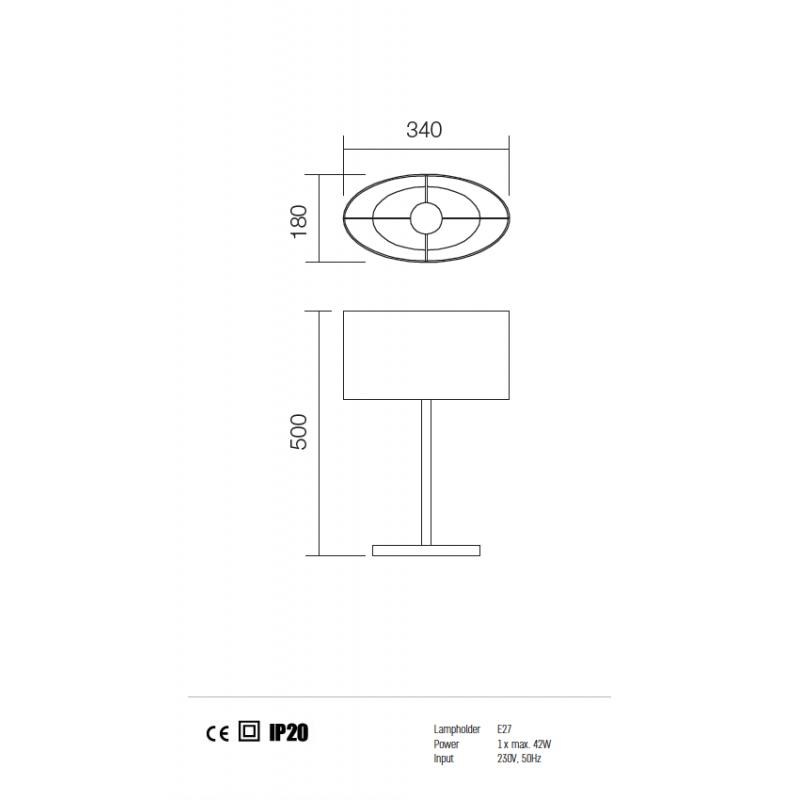 Veioza Enjoy structura din metal cu abajur negru 01-680 BK Redo