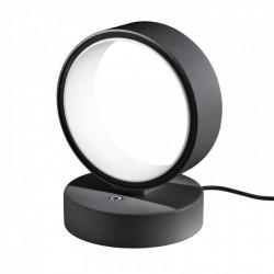 Veioza Atomo echipata cu LED structura metal negru mat cu alb 01-952 Redo