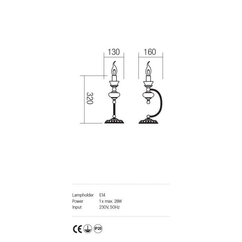 Veioza Fabula structura metal si ceramica E14 IFB T1 14 Incanti