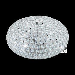 Plafoniera Clemente cu structura metalica si cristal transparent 95284 Eglo
