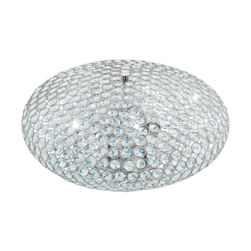 Plafoniera Clemente cu structura metalica si cristal transparent 95285 Eglo