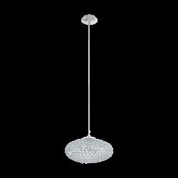 Suspensie Clemente cu structura metalica si cristal transparent  95286 Eglo
