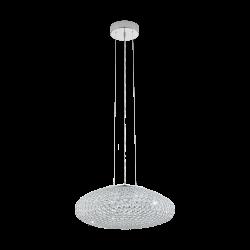 Suspensie Clemente cu structura metalica si cristal transparent  95287 Eglo