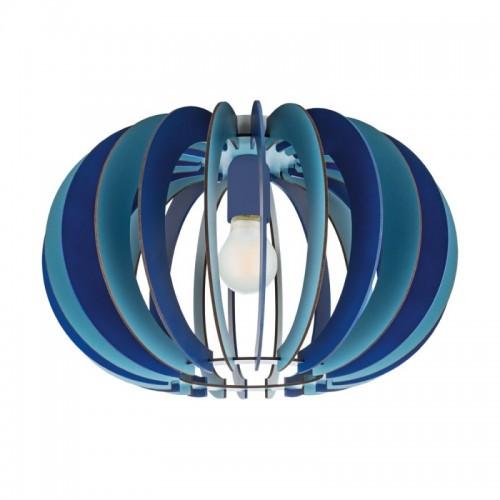 Plafoniera Fabella pentru interior cu abajur din lemn albastru 95948 Eglo