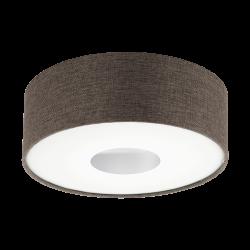 Plafoniera Romao 2 cu LED,structura metalica si plastic,abajur textil 95336 Eglo