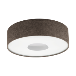 Plafoniera Romao 2 cu LED,structura metal si plastic si abajur textil 95337 Eglo