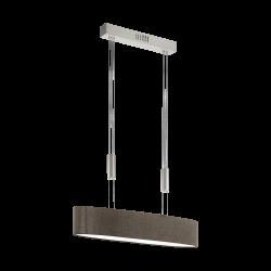 Suspensie Romao 2 cu LED,structura metalica si abajur textil 95341 Eglo