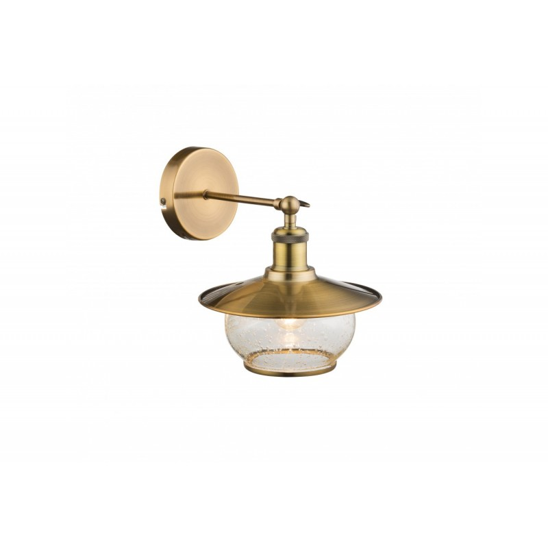Aplica Nevis pentru interior cu structura metalica,finisaj bronz si abajur din sticla 69030W Globo