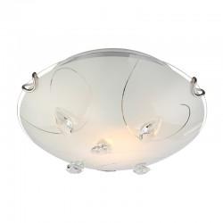 Plafoniera nichel mat cristale K5 transparente 40414-1 ALIVIA